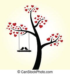 szív, szeret, fa