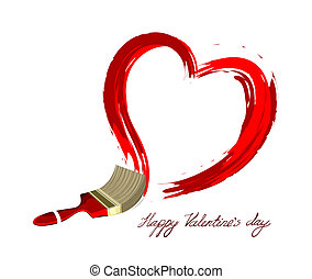 szív, szeret, illustration., kreatív, vektor, tervezés