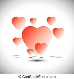 szív, szeret, kert, ikonok, -, vektor, úszó, álmodik, ikon
