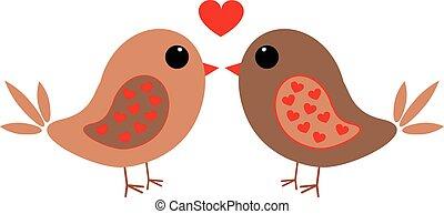 szív, szeret madár