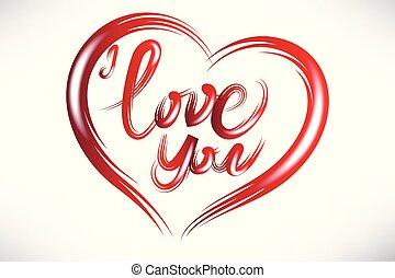 szív, szeret, valentines, jel