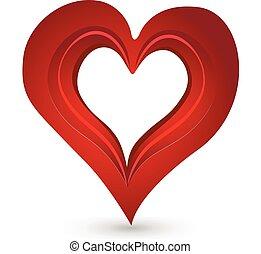 szív, szeret, valentines, jel, nap, ikon