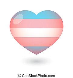 szív, transgender, büszkeség, lobogó