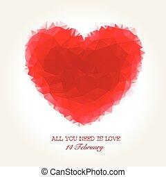 szív, valentines, mózesi, geometriai