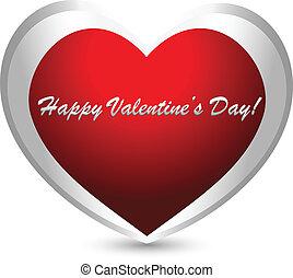 szív, valentines nap, jel