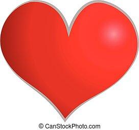 szív, valentines nap, kártya, köszönés