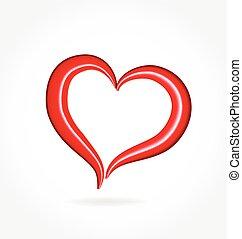 szív, valentines, szeret, jel