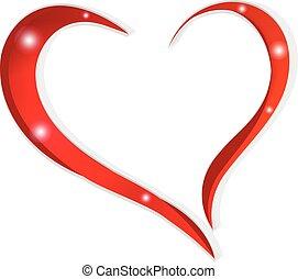 szív, valentines, szeret, nap