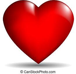 szív, vektor, 3