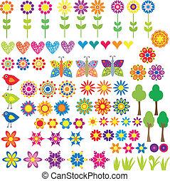 szív, virág, állat, gyűjtés