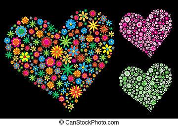 szív, virág