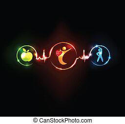 szív, wallaper, egészséges