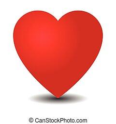 szív, white piros, háttér