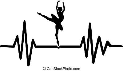 szívdobbanás, balett-táncos