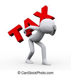 szó, adót kiszab, bús, szállítás, ember, 3