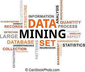 szó, bányászás, -, felhő, adatok