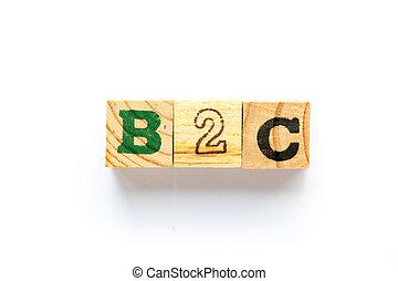 szó, fehér, b2c, háttér, tömb, (business, consumer), erdő