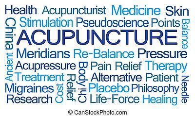 szó, felhő, akupunktúra