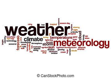 szó, felhő, fogalom, időjárás