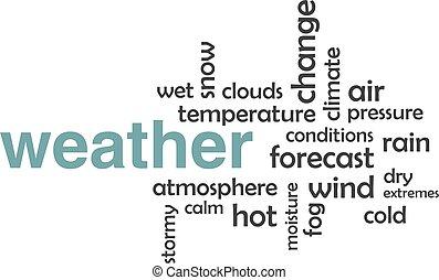 szó, felhő, -, időjárás