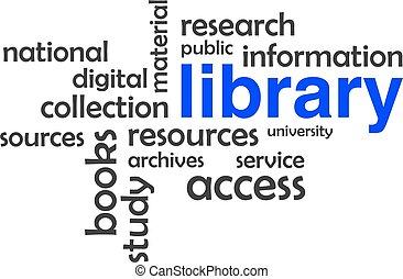 szó, -, felhő, könyvtár