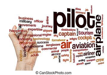 szó, felhő, pilóta