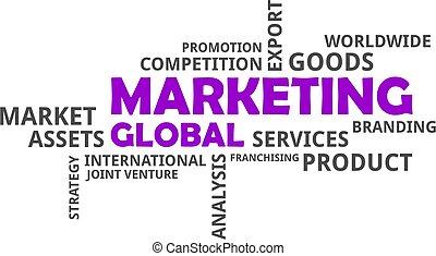 szó, globális, -, felhő, marketing