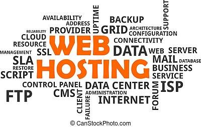 szó, -, hosting, felhő, háló