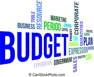 szó, -, költségvetés, felhő