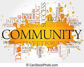 szó, közösség, felhő