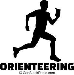 szó, orienteering, árnykép