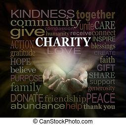 szó, segítség, kérés, címke, felhő, jótékonyság