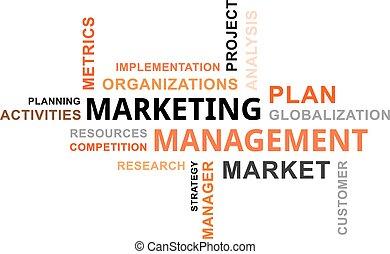 szó, vezetőség, -, felhő, marketing