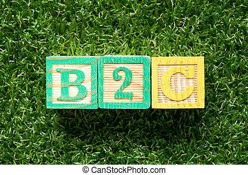 szó, zöld, mesterséges, consumer), (business, fű, elpirul háttér, b2c, tömb, erdő