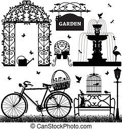 szórakozási, liget, kert