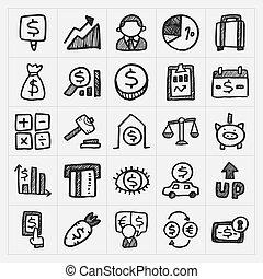 szórakozottan firkálgat, anyagi icons
