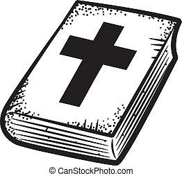 szórakozottan firkálgat, biblia