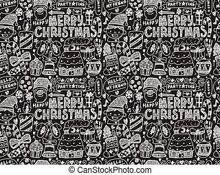 szórakozottan firkálgat, seamless, karácsony, motívum