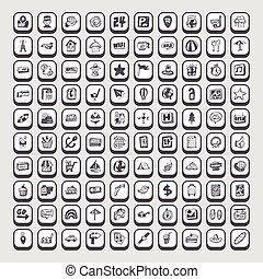 szórakozottan firkálgat, utazás icons