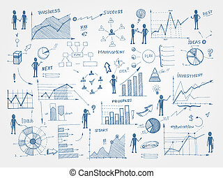 szórakozottan firkálgat, vezetőség, ügy elem, infographics