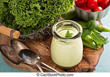 szósz, avokádó, vegan, tejszínes