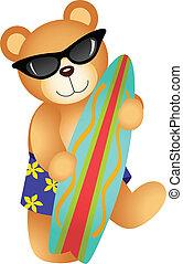 szörfözás, hord, teddy-mackó