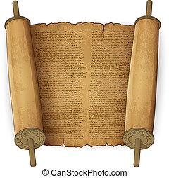 szöveg, ősi, cikornyázik