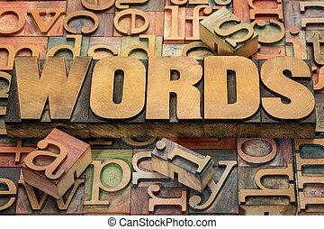 szöveg, erdő, gépel, szavak