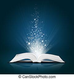 szöveg, fehér, könyv, nyílik, gondolat