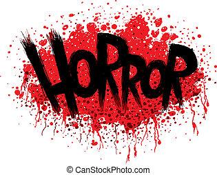 szöveg, horror