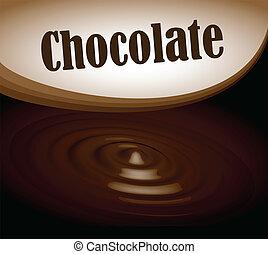 szöveg, keret, loccsanás, eps10, csokoládé