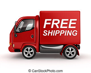 szöveg, szabad, hajózás, piros, furgon, 3