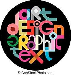 szöveg, tervezés, grafikus, fekete