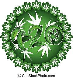 szöveg, tervezés, jelképes, 420, marihuána